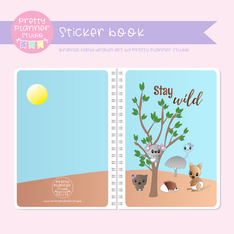 Bush friends - Stay wild | sticker book | BF-007/2
