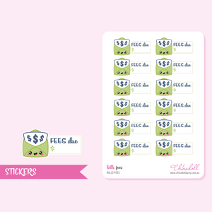 bills - fees | sticker sheet | BILLS-FEES