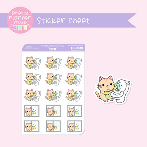 Busy kitties - cleaning | sticker sheet | BK-004/10