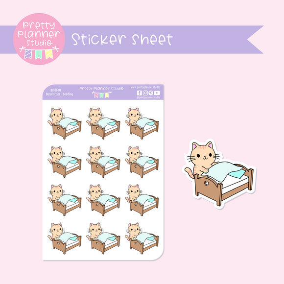 Busy kitties - bedding | sticker sheet | BK-004/1