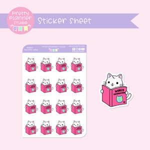 Busy kitties - reading | sticker sheet | BK-004/31