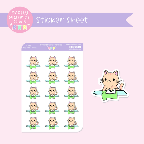 Busy kitties - ironing | sticker sheet | BK-004/8