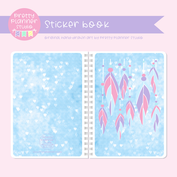 Boho style - Feathers | sticker book | BS-007/1