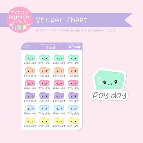 Budgeting - pay day | sticker sheet | BU-004/7