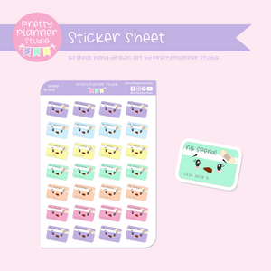 Budgeting - no spend | sticker sheet | BU-004/8