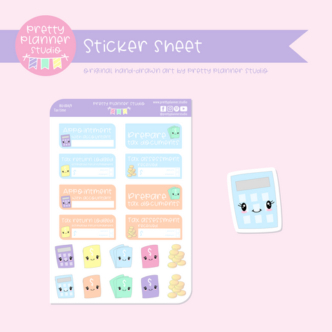 Budgeting - tax time | sticker sheet | BU-004/9