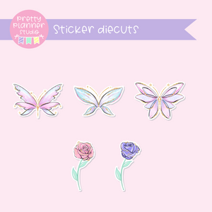 Butterfly wings | sticker diecuts | BW-005
