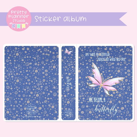Butterfly wings - Just when the caterpillar | sticker album | BW-006/1