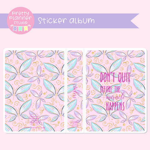 Butterfly wings - Don't quit | sticker album | BW-006/3