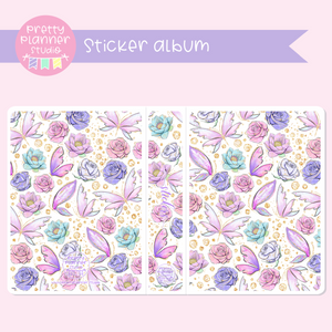 Butterfly wings - Floral | sticker album | BW-006/4
