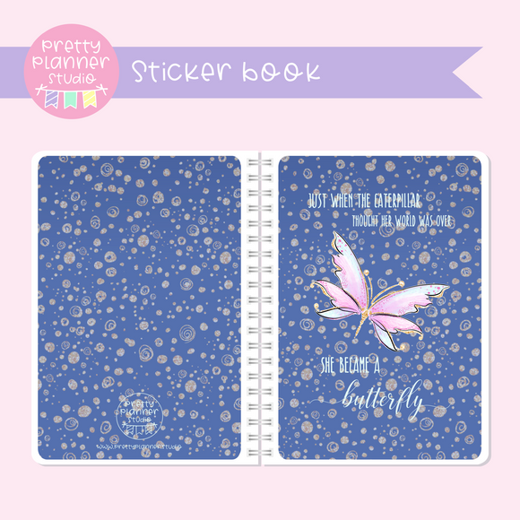 Butterfly wings - Just when the caterpillar | sticker book | BW-007/1