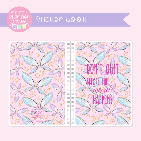 Butterfly wings - Don't quit | sticker book | BW-007/3