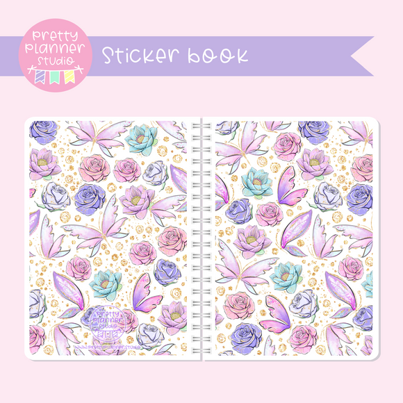 Butterfly wings - Floral | sticker book | BW-007/4