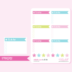 busy mermaid - to do list | EC daily petiteplanner calendar covers | sticker sheet large | CC-DPP-BM-TODO