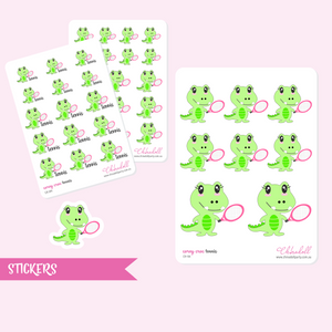 corey croc - tennis | sticker sheet | CR-104 and CR-204