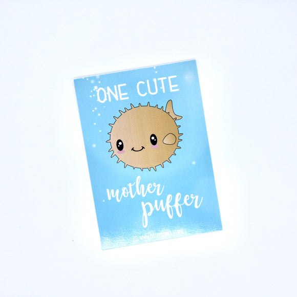 Under the sea - One cute mother puffer | journal card | US-029/2