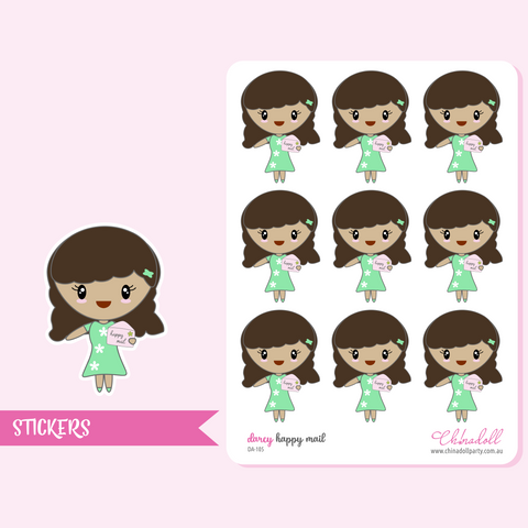 planner girl - darcy - happy mail | sticker sheet | DA-105