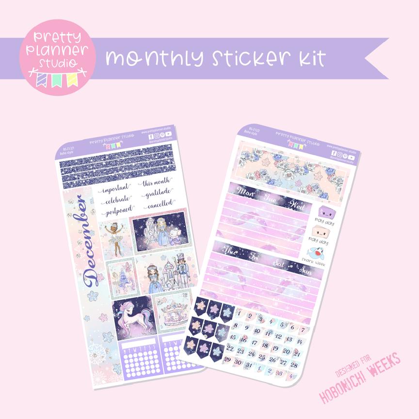 Doll kingdom | monthly sticker kit | Hobonichi Weeks | DK-212