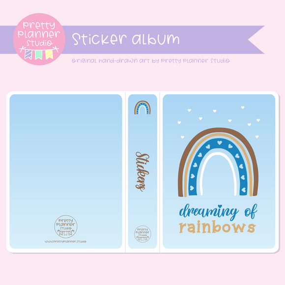 Dreaming of rainbows - Blue | sticker album | DR-006/1