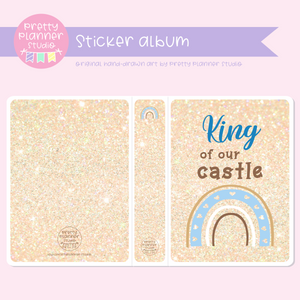 "Dreaming of rainbows - King of our castle | 5x7"" photo album 
