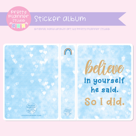 "Dreaming of rainbows - Believe in yourself | 5x7"" photo album 