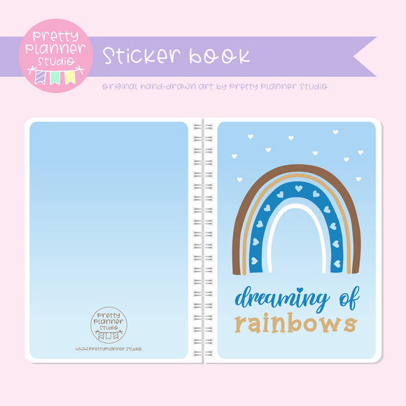 Dreaming of rainbows - Blue | sticker book | DR-007/1