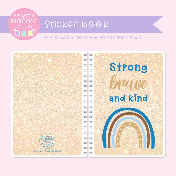 Dreaming of rainbows - Strong brave and kind | sticker book | DR-007/2