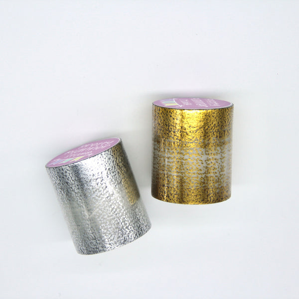 Foiled clear overlay tape - confetti