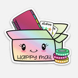 Time to plan - happy mail | holographic vinyl sticker diecut | VS-009/1