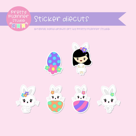 Hoppy Easter | sticker diecuts | HE-005