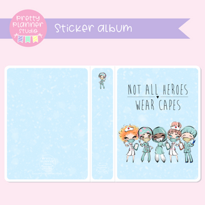 Medic Heroes | photo/sticker album | not all heroes wear capes | F-0621