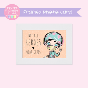 Medic Heroes | framed photo card - horizontal | female medic - style A | F-0801