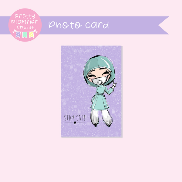 Medic Heroes | photo card - vertical | female medic - style B | F-0812