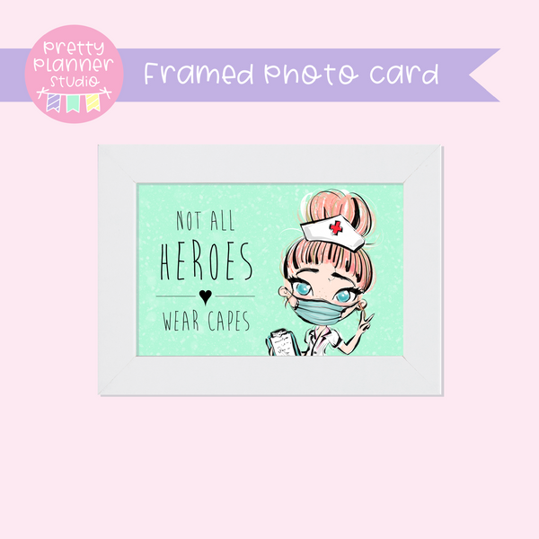 Medic Heroes | framed photo card - horizontal | nurse - style A | F-0804
