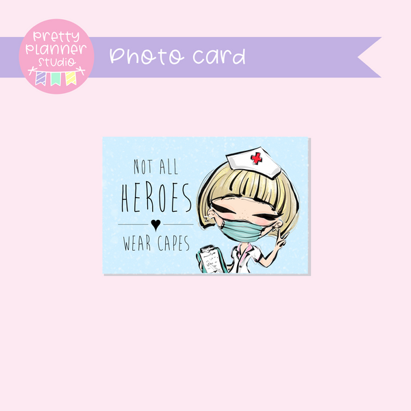 Medic Heroes | photo card - horizontal | nurse - style B | F-0805