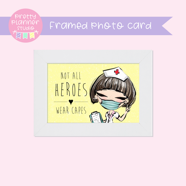 Medic Heroes | framed photo card - horizontal | nurse - style B | F-0805