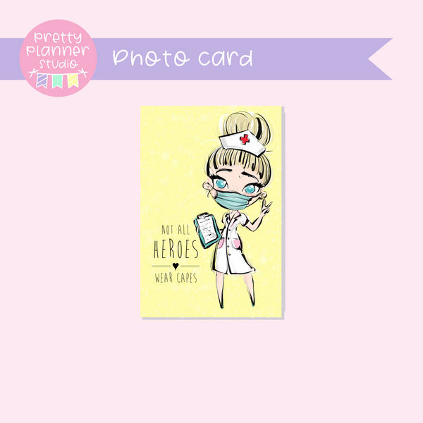 Medic Heroes | photo card - vertical | nurse - style A | F-0814