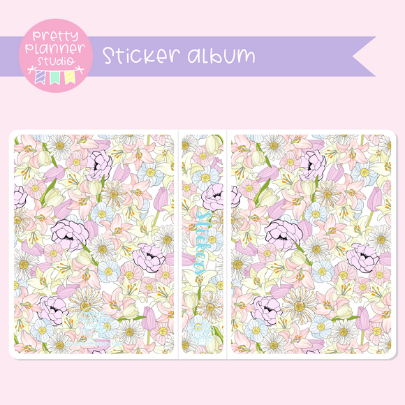 The first bloom - Floral | sticker album | FB-006/1