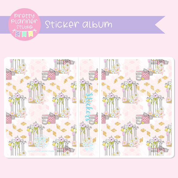 The first bloom - Birdcage | sticker album | FB-006/3