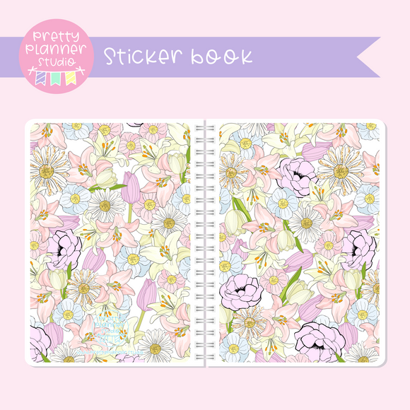 The first bloom - Floral | sticker book | FB-007/1