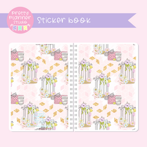 The first bloom - Birdcage | sticker book | FB-007/3