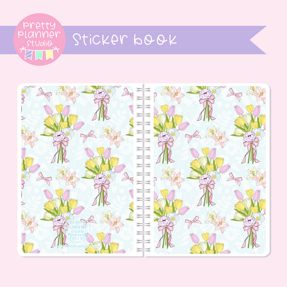 The first bloom - Bouquet | sticker book | FB-007/4