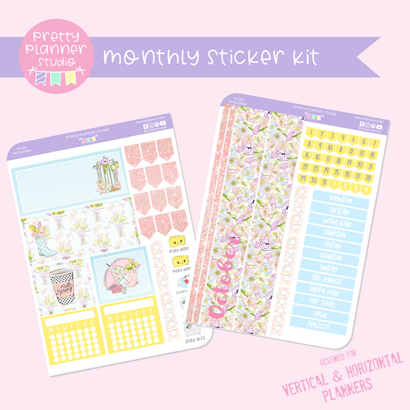 The first bloom | monthly sticker kit | vertical or horizontal | FB-132