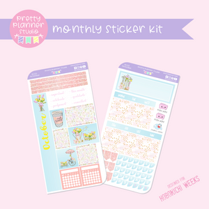The first bloom | monthly sticker kit | Hobonichi Weeks | FB-212