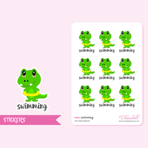 croc - swimming | sticker sheet | FNL-CROC-SWM-02