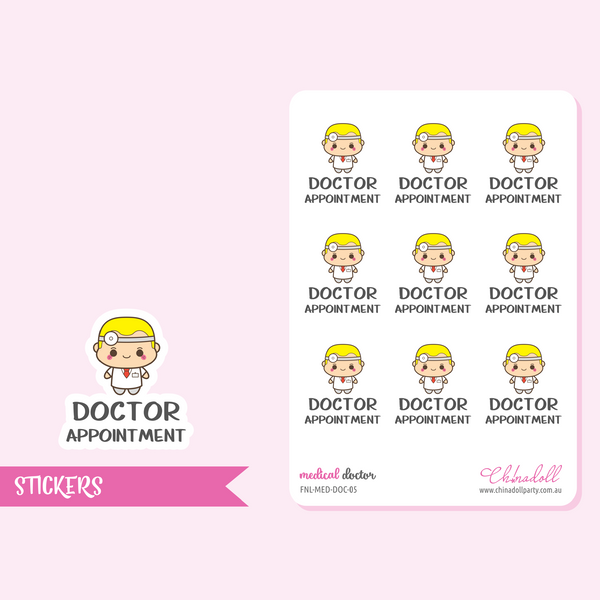 medical - doctor appointment | sticker sheet | FNL-MED-DOC