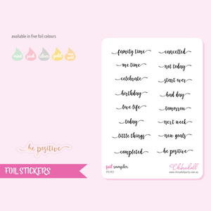 foil stickers - sampler | clear sticker sheet | FO-951