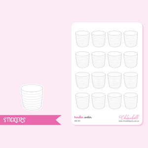 health and beauty - water tracker | sticker sheet | HB-103