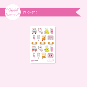 health and beauty - medical - hospital | sticker sheet | HB-104