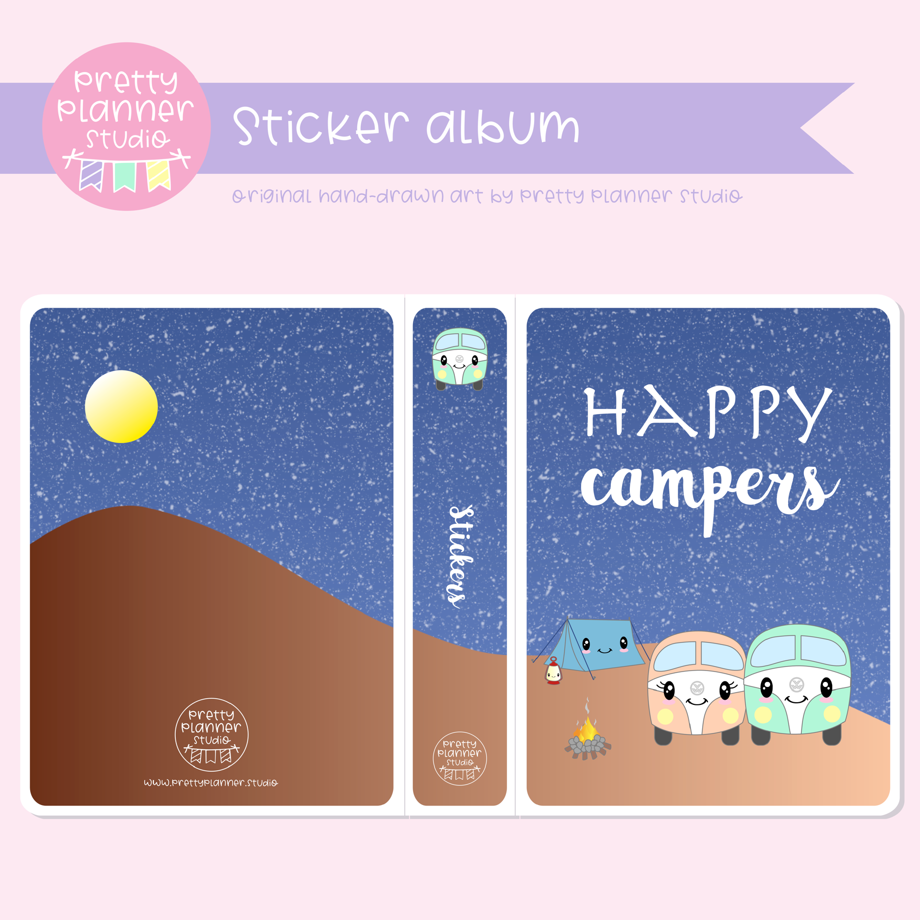 Happy campers - Camping | sticker album | HC-006/1